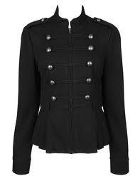 Black Military Jacket For Women | Looks I Love | Pinterest