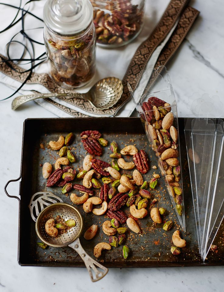 Moroccan spiced roast nuts - salty and spicy