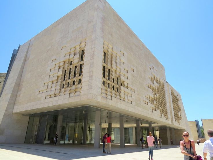 The Parliament Building aka Cheese Grater building by Renzo Piano in Valletta…