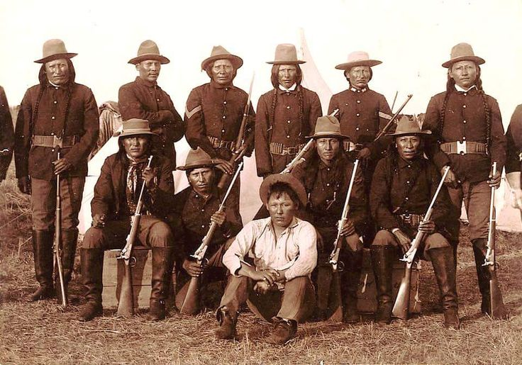 Шайенские скауты. 1884