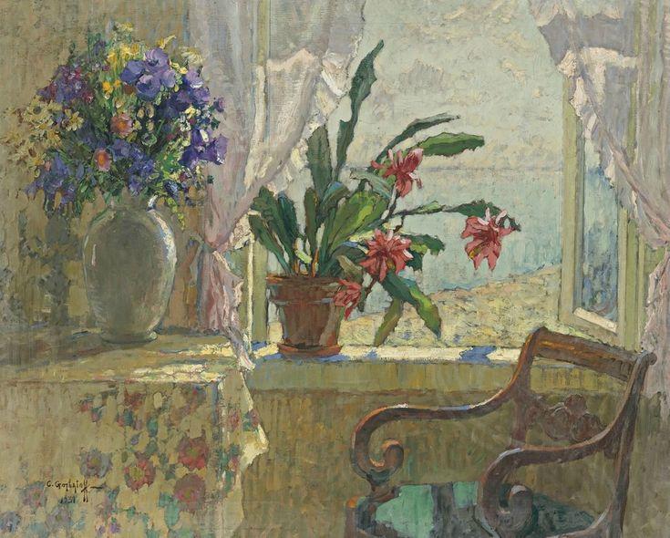 Открытое окно. 1931Холст, масло. 87 x 106 смЧастное собрание