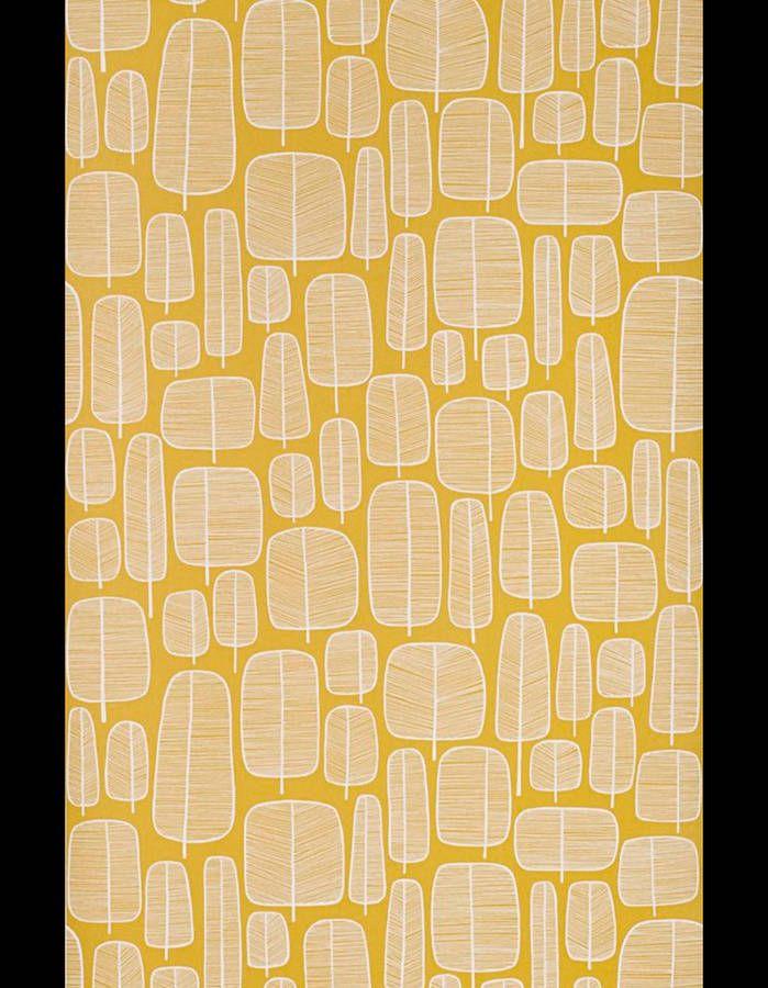 Papier peint Little Trees Yellow, Miss Print