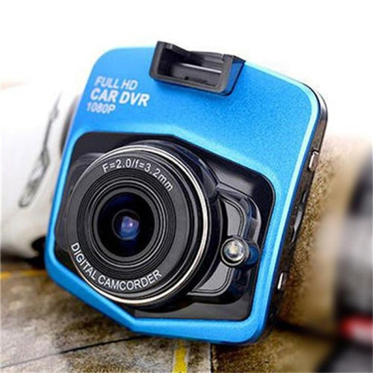 "GT300 1080P 2.4"" Car Video Recorder with 120 Degree View Angle / Night Vision / G-Sensor Motion Blue"