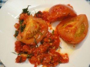 Маринованные помидоры быстрого приготовления по-корейски  - рецепт и фото