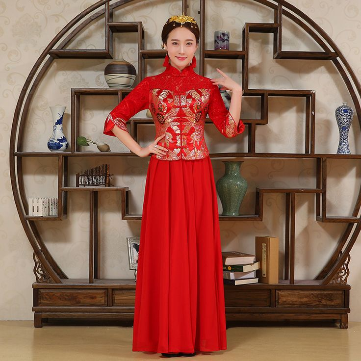 China Dress Traditional Cheongsam Long Evening Gowns Vestido Oriental Style Chinese Qipao Dresses Robe Chinoise Vintage Qi Pao