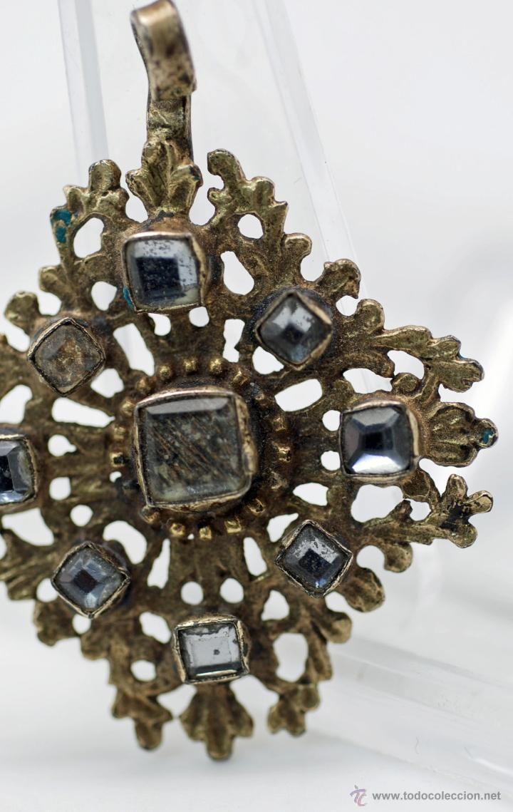 Fermall aderezo traje regional Fallera Valencia plata y cristal espejuelos XIX - Foto 3