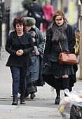 Helena Bonham Carter and Ruby Wax seen out and about in Notting Hill  Featuring: Helena Bonham Carter, Ruby Wax, - Stock Photo