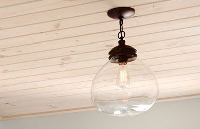 """Lighting: allen and roth 12"""" bronze pendant light with clear shade #198671"""
