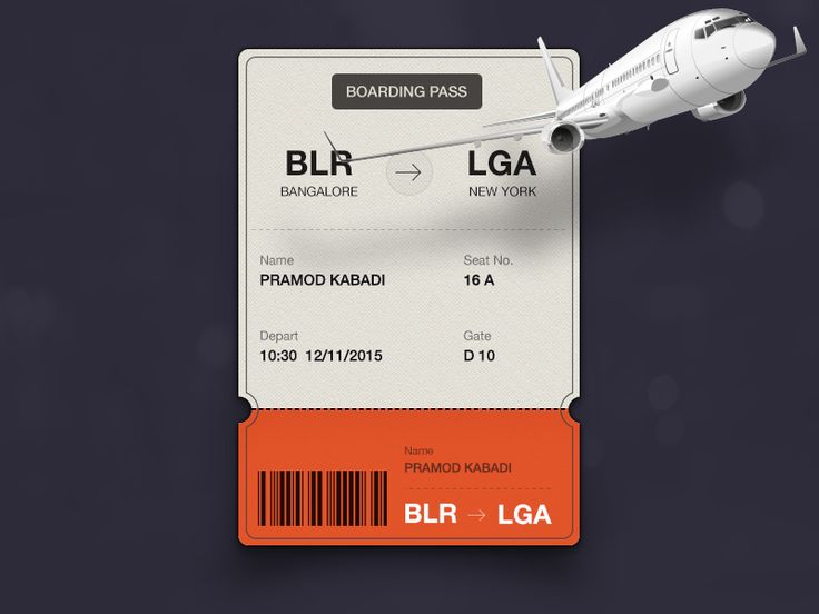 Daily UI #024- boarding pass #dailyui #024