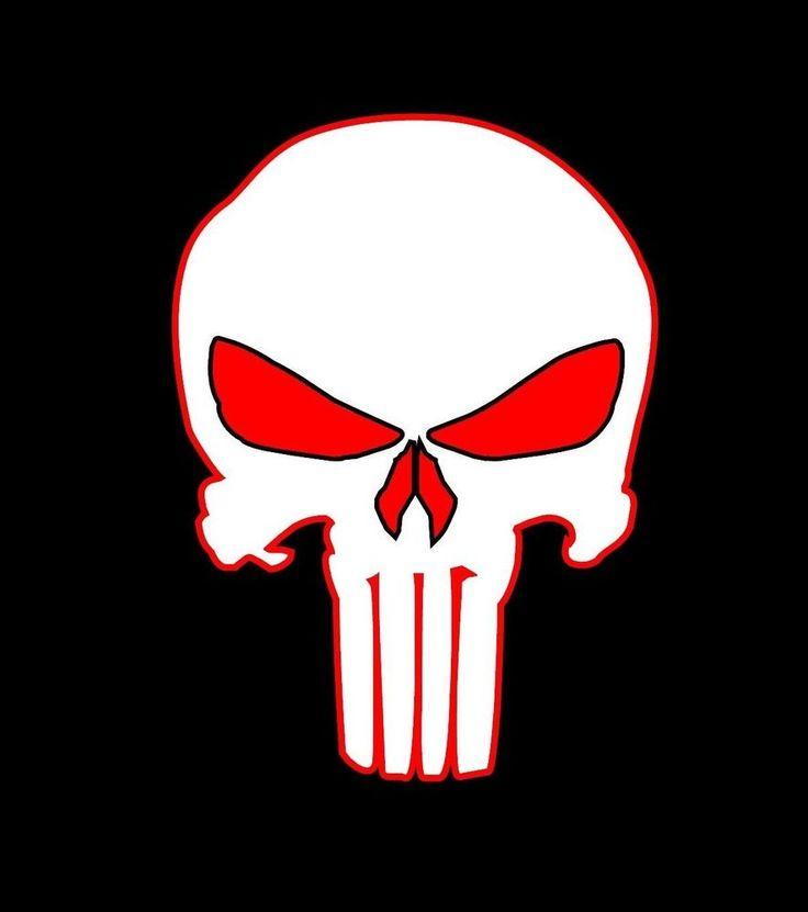 skull jeep logo emblem | Punisher Skull Vinyl Decal Sticker Hood Car Vehicle Window Logo Off ...