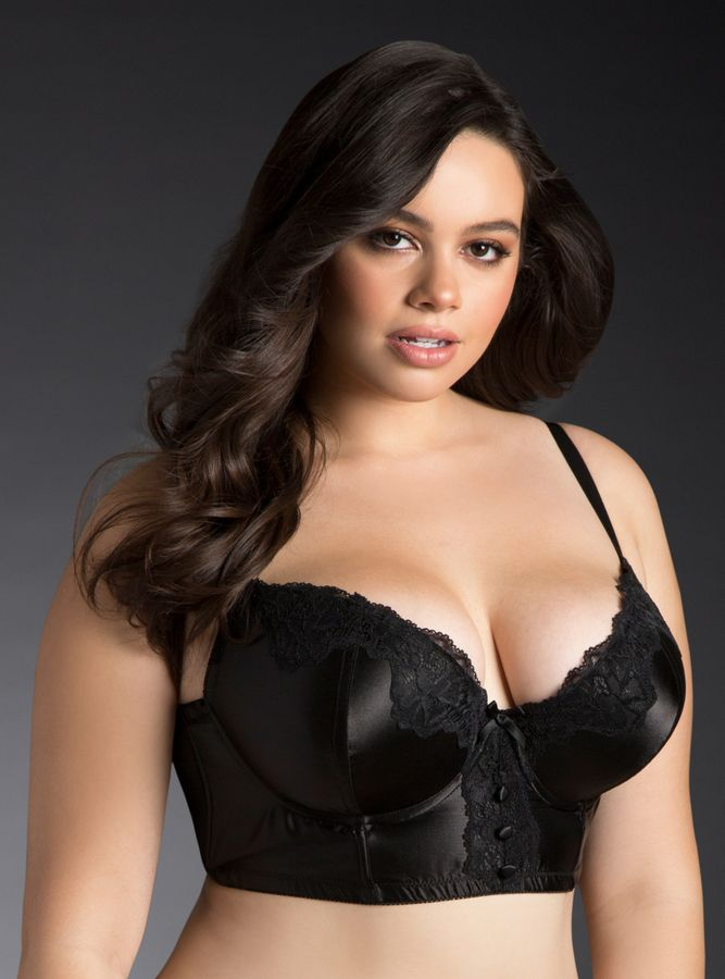 torrid satin lace long line bra plus size lingerie. Black Bedroom Furniture Sets. Home Design Ideas