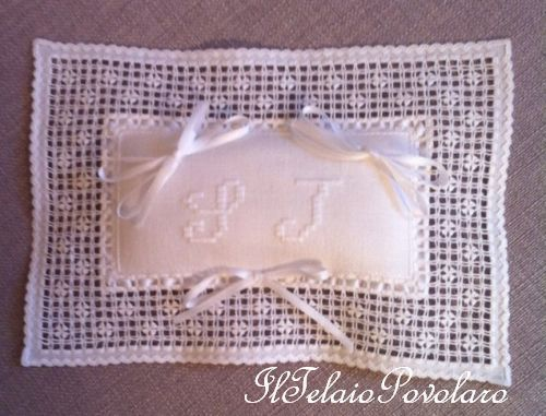 Ancora lino edinburg bianco, per un secondo cuscinetto a fili tagliati