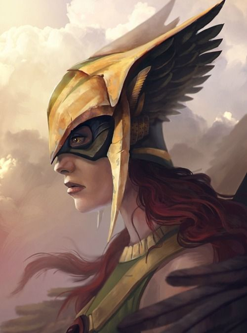 Hawkgirl by Dante Corvus>> I'm so glad they made her and Ray a cannon