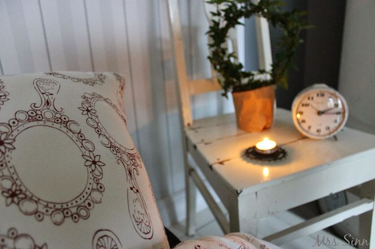 Bed linen by Second Chance. The pic by Mrs Sinn Blog.