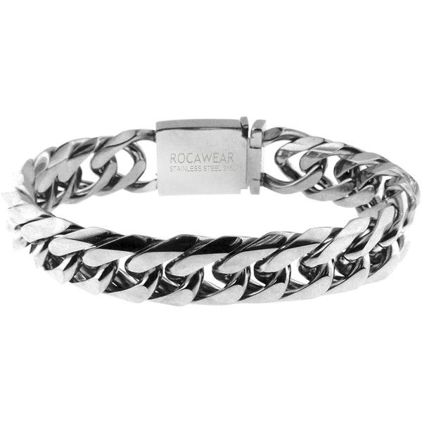 Men's Casting Curb Link Bracelet in Stainless Steel by... ($13) ❤ liked on Polyvore featuring men's fashion, men's jewelry, men's bracelets, jewelry & watches, silver, mens curb chain, mens stainless steel bracelets, mens watches jewelry and mens bracelets