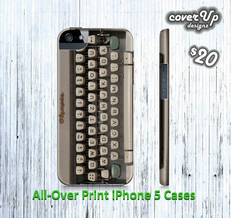 iPhone 5 Hard Case, Type Writer Novelty Printed iPhone 5 Case, iPhone5 Typewriter Hardcase. $20.00, via Etsy.