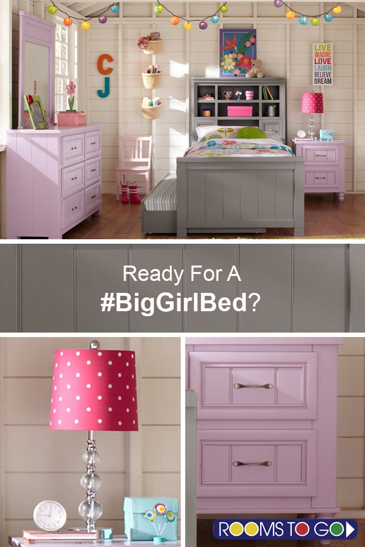 Your little one isn't so little anymore, and that means it's time for a #biggirlbed! Make the most of the space in your child's bedroom with the Cottage Colors bookcase bed.