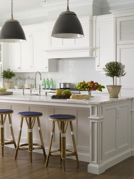 Beach House kitchen...white.    Discover your home decor personality on www.homegoods.com/stylescope