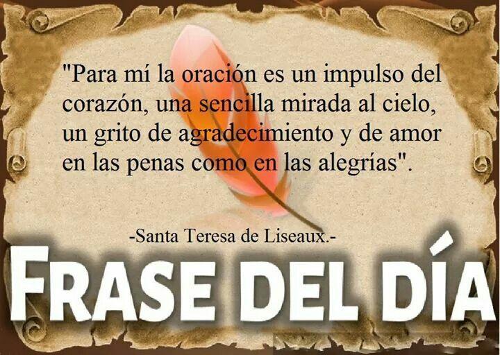 Frase de Santa Teresita | Santa Teresa del niño Jesus ...