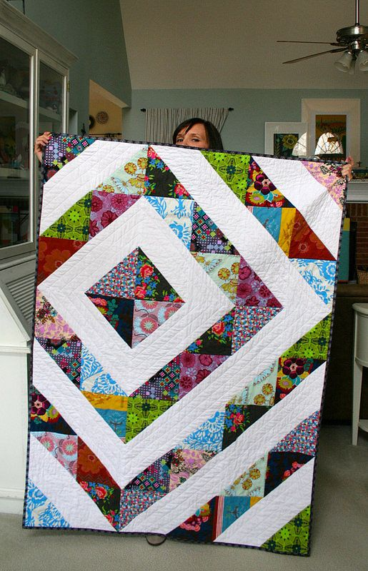 tada! throw quilt is done