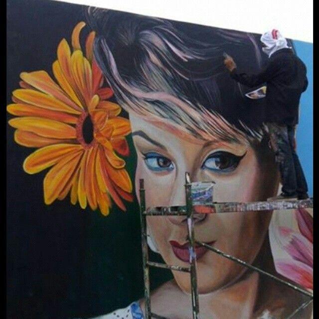 #art #flowers #streetart #style #paint #mural #MAKER