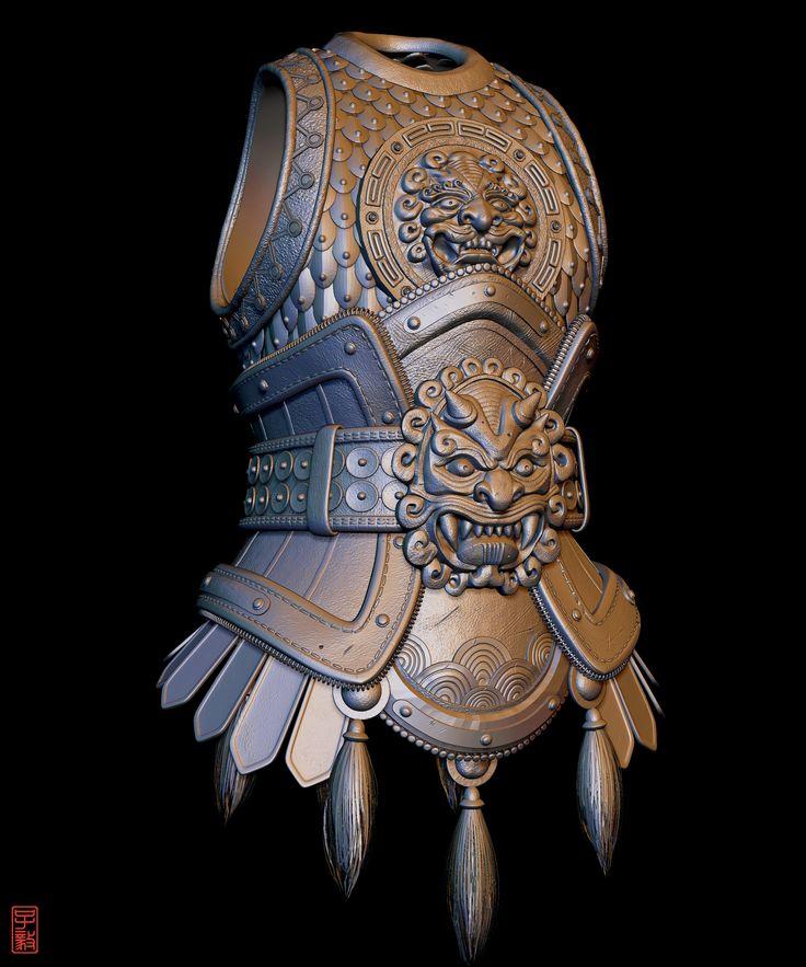 ArtStation - Chinese Body Armour (Original by Alexandre Fiolka), Zaczphere (Zac Goh)