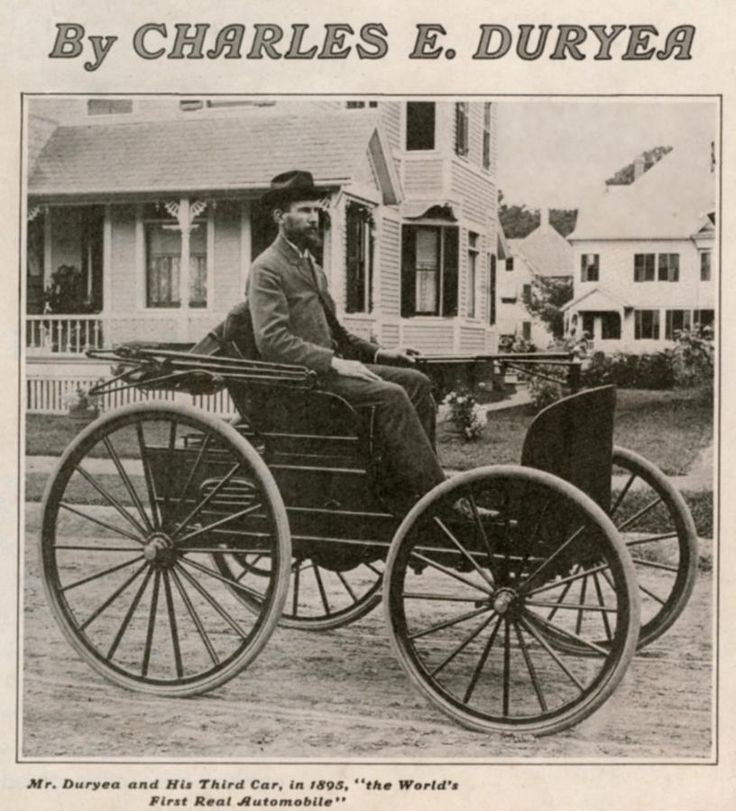 Frank and Charles Duryea, makers of the first U.S. automobile. 1890s ...