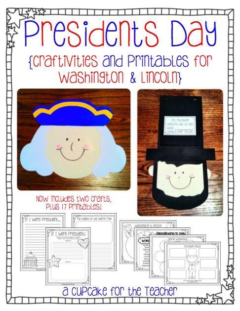 A Cupcake for the Teacher: President's Day Craftivities