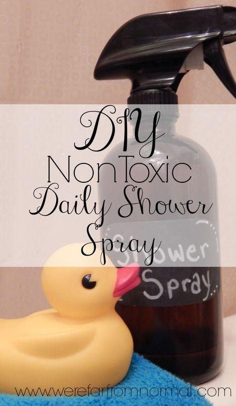 Homemade daily shower spray non toxic DIY