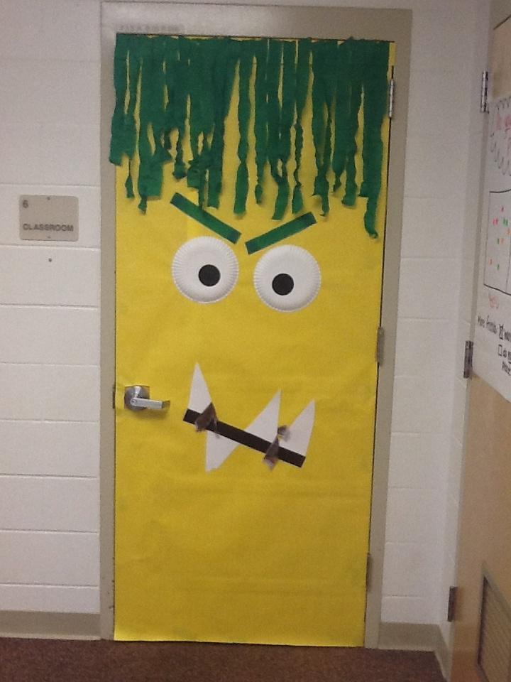 Classroom Door Decoration Ideas For Halloween : This is my classroom door the kids are loving it