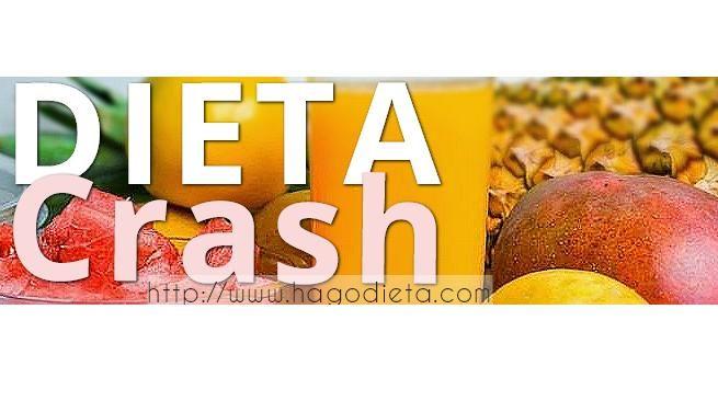 La Dieta Crash o llamada Dietas de Choque generalmente se utilizan para poder salir de la meseta de estancamiento en el plan de Perder Peso.  La Dieta Crash de corta duracion e Hipocalorica, generalmente dura 1 o 2 dias, 48 hs, entre las mas populares se encuentra la Dieta de la Luna.