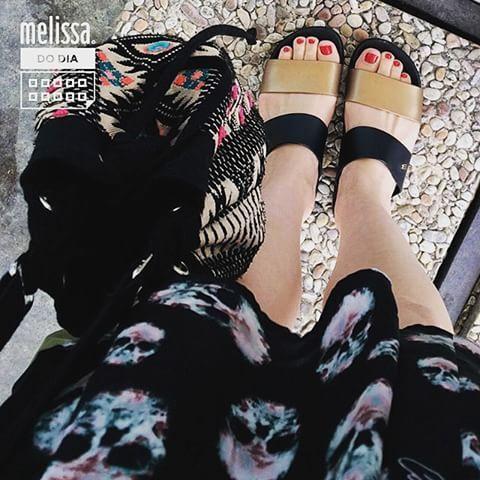 Melissa Cosmic, look simples e cheio de estilo #correpraca