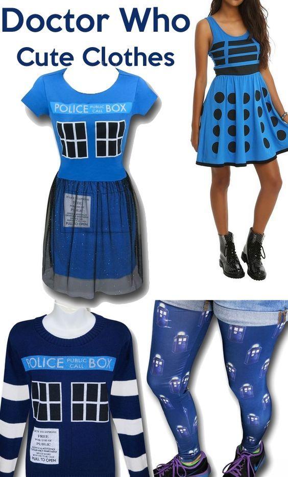 Cute Doctor Who & TARDIS clothing ideas!