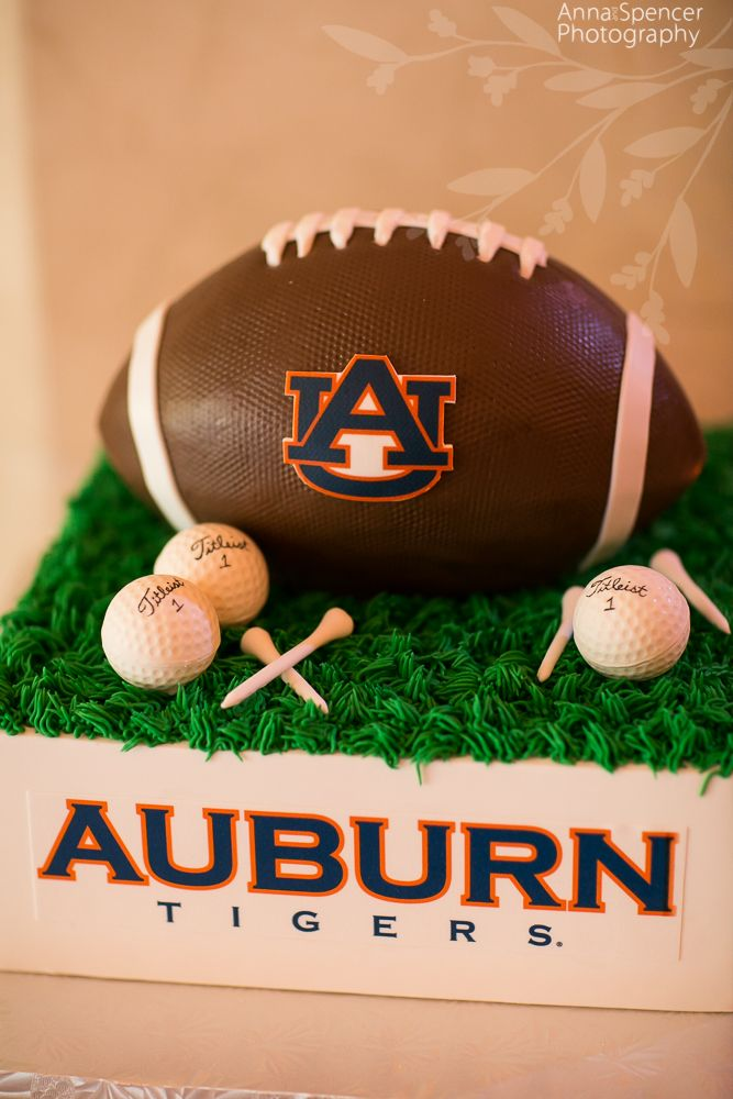 Auburn University Football and golf Groom's Cake by For Goodness Cakes