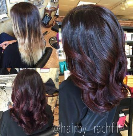 55 Ideas hair color red violet redheads #winterhaircolor