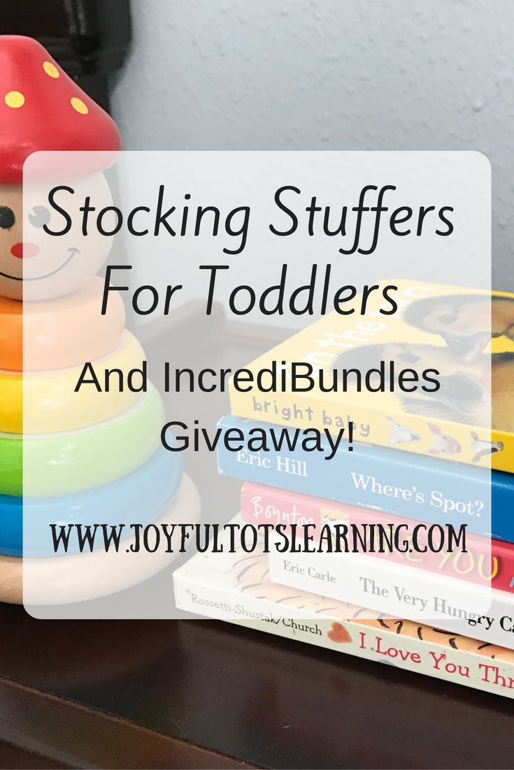 With the holiday season quickly approaching, here are some gift ideas for your toddler's stocking! Plus, a great giveaway from IncrediBundles!