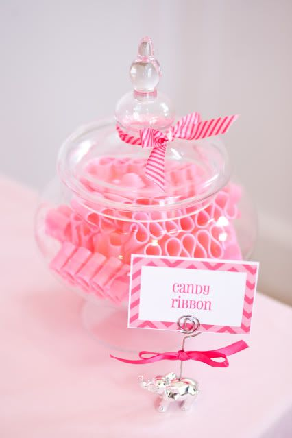 Serve Ribbon candy to match the theme at your next Baby Shower! Via Kara's Party Ideas @HUGGIES Baby Shower Planner
