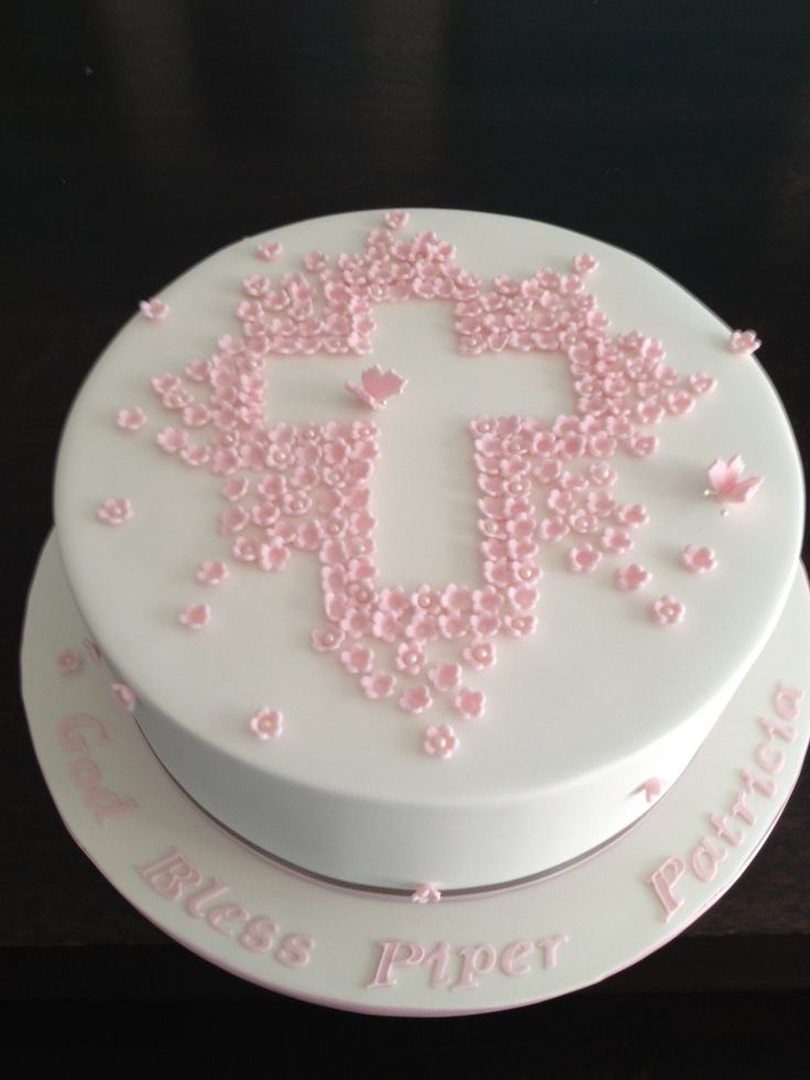 Christening Cake Coconut white chocolate mud cake.Cake inspired by Sweet Tiers