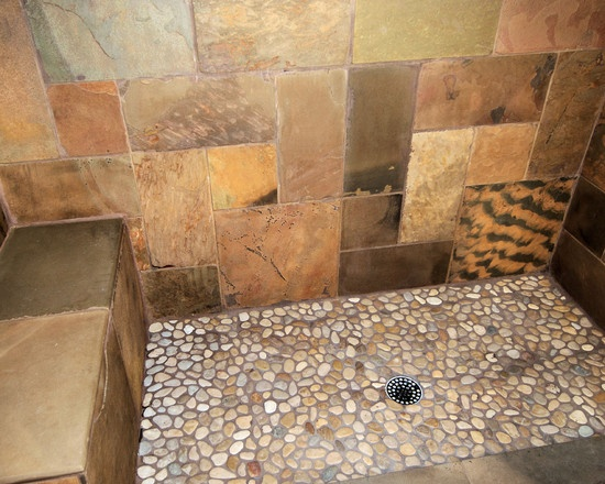Asian Spa Bathroom Design Ideas ~ Master bath asian green spa shower design pictures