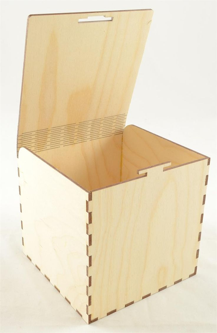 """Snap Fit Wood Box 5"""" Cube.  Manufactured with baltic birch plywood in any size and configuration."""