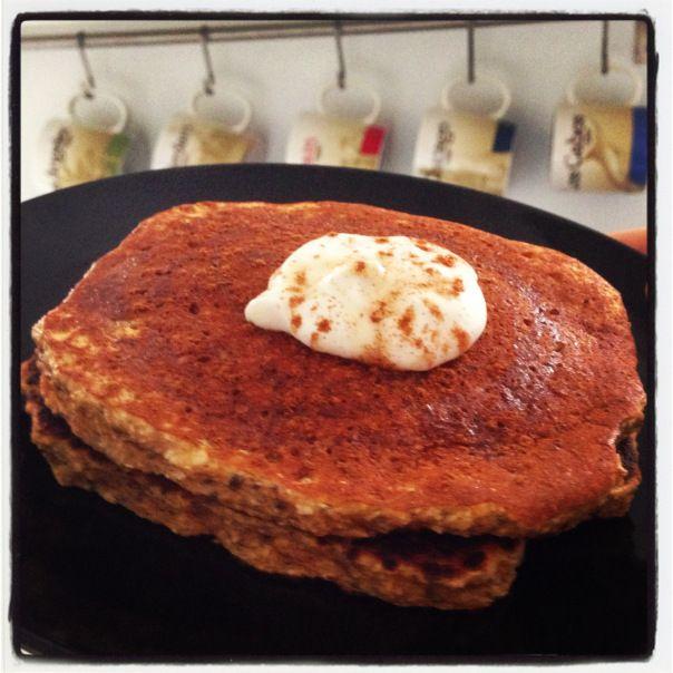 Pumpkin Coconut Protein Pancakes | Coconut Pancakes, Pancakes and ...