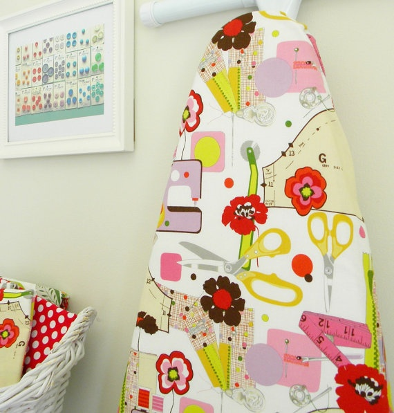 Fun sewing room ironing board cover by CityChicCountryMouse on Etsy