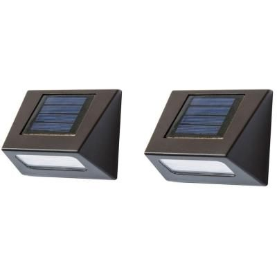 Solar Powered Brown Downcast Deck Light (2 Pack). Stair LightingHouse ...