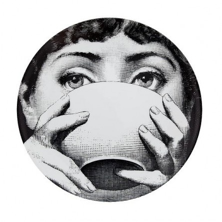 Fornasetti face plate coffee cup art pinterest shops etchings and eyes - Fornasetti faces wallpaper ...