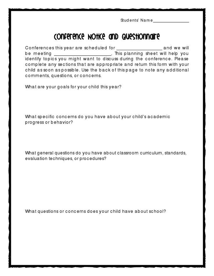 sample parent teacher conference letters - Demireagdiffusion