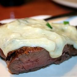 Gorgonzola Sauce - absolutely AMAZING!  Made it for steaks for Joes bday.  I made 1.5 of the recipe and next time I would double it for two steaks.  We ate every last drop.