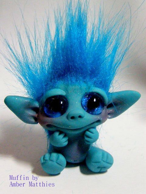 OOAK Trollfling Troll Doll Miniature Muffin by от Trollflings