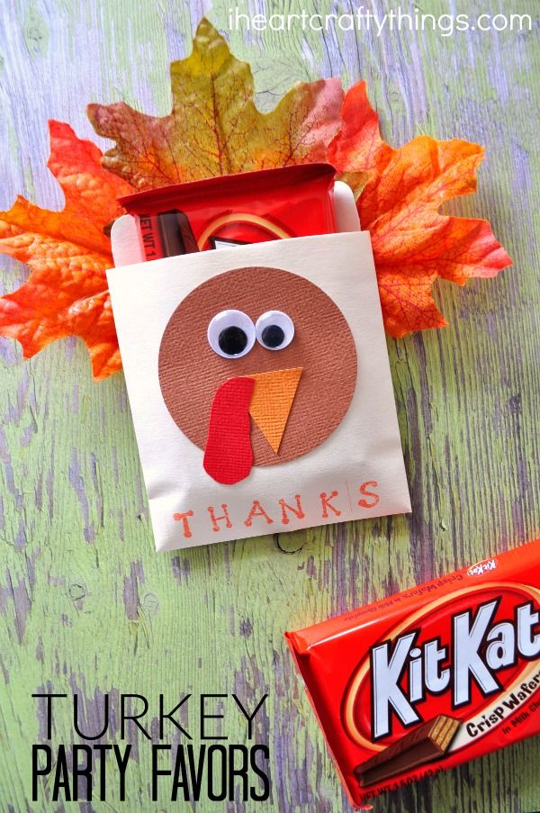 Hosting a party or get-together for Thanksgiving? Make these adorable DIY Thanksgiving Turkey Party Favors. The kids can even help you make them and they work great for teacher gifts as well.