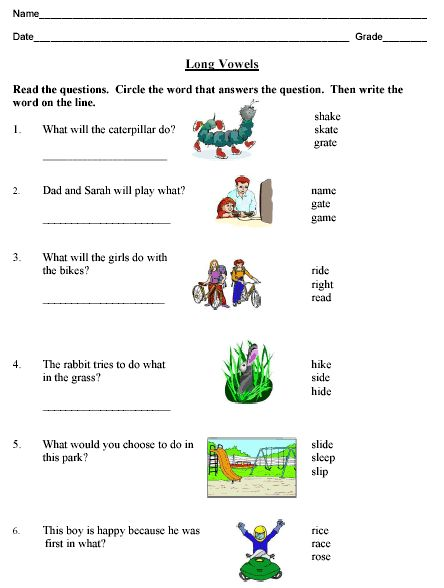 Phonics Long Vowels Compound Words And Contractions