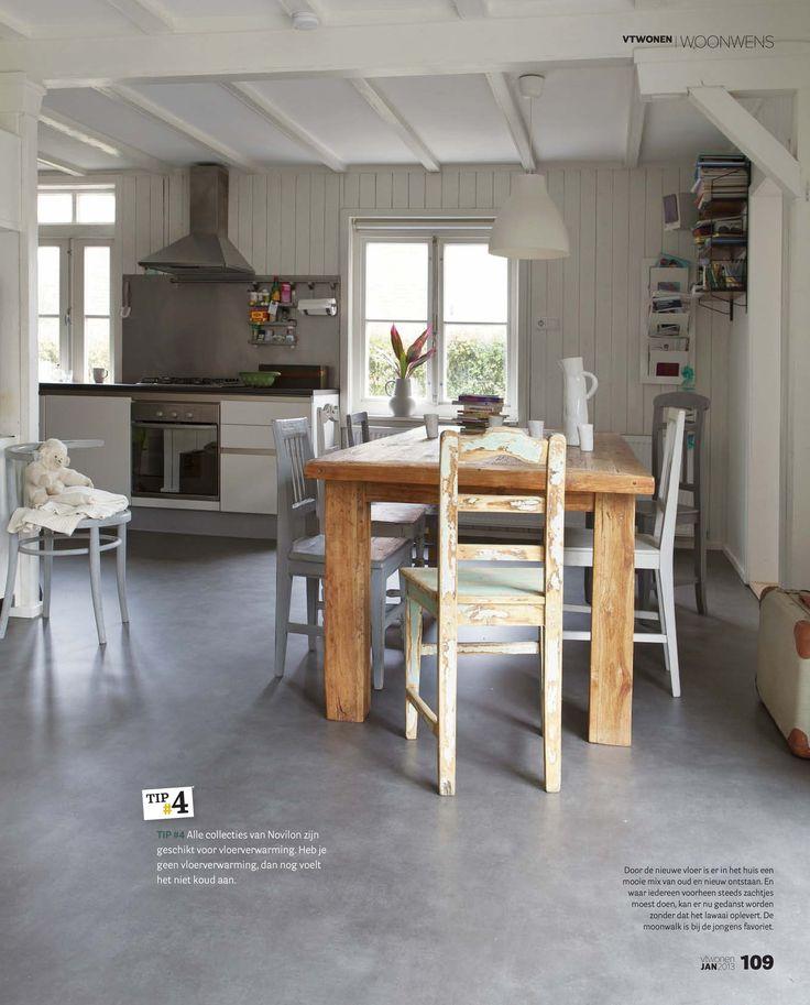 vtwonen | woonwens Tip #2 Door te kiezen voor één kwaliteit vloer in verschillende dessins voor de woonkamer en keuken, het slaapgedeelte en de gang ontstaat eenheid en rust en blijft het tóch een beetje speels. Tip # 3 Tip #3 Een Novilon vloer is ideaal voor een Tip 2 huishouden met kinderen. De geluiddempende werking vermindert contact- en omgevingsgeluiden. Ook is een Novilon vloer makkelijk schoon te maken. # @vtstilist Frans twittert alvast over het huis van de winnaars tijde...